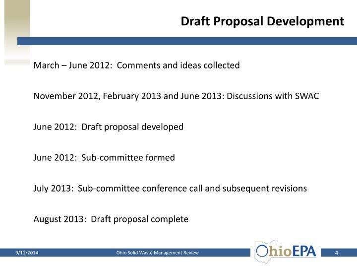 Draft Proposal Development