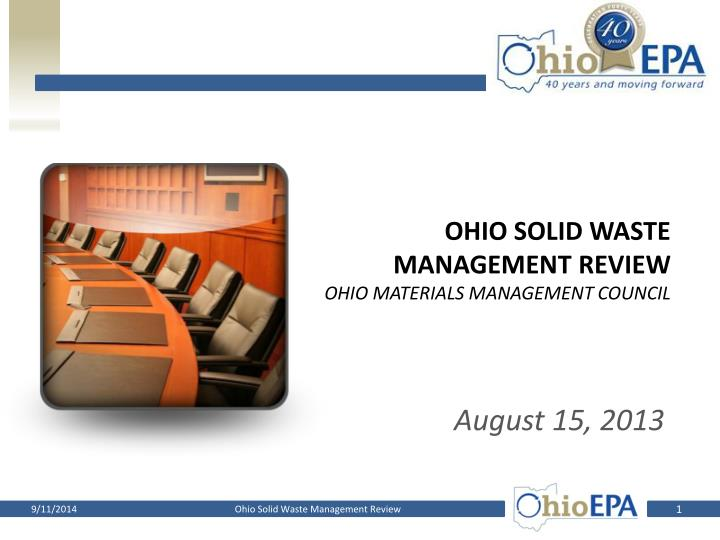 Ohio Solid waste management review