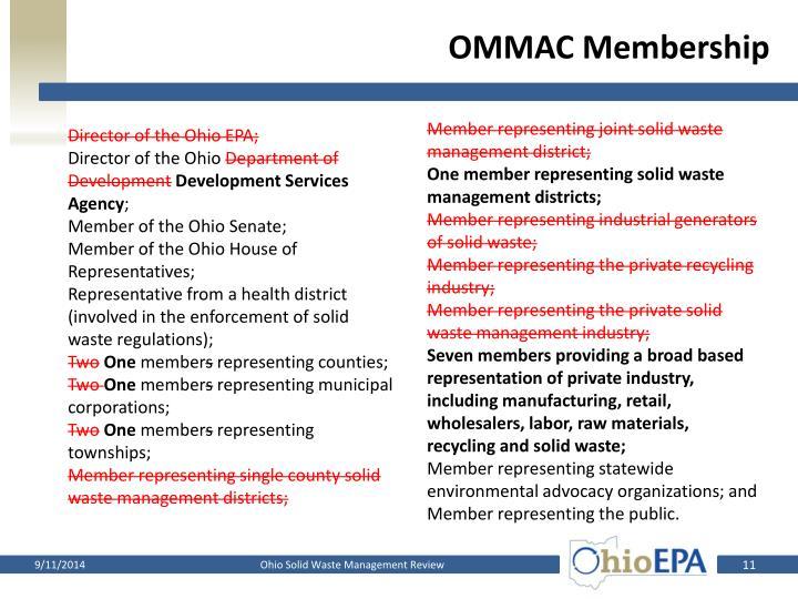 OMMAC Membership
