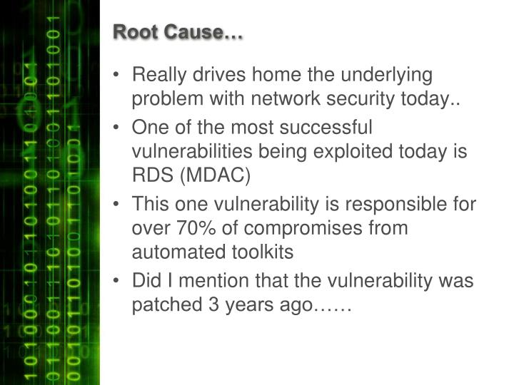 Root Cause…