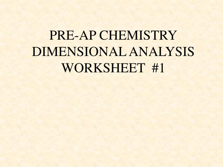 Easy Dimensional Analysis Worksheet – Dimensional Analysis Worksheet Answers