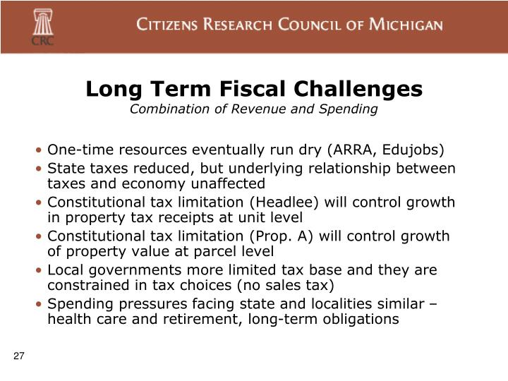 Long Term Fiscal Challenges