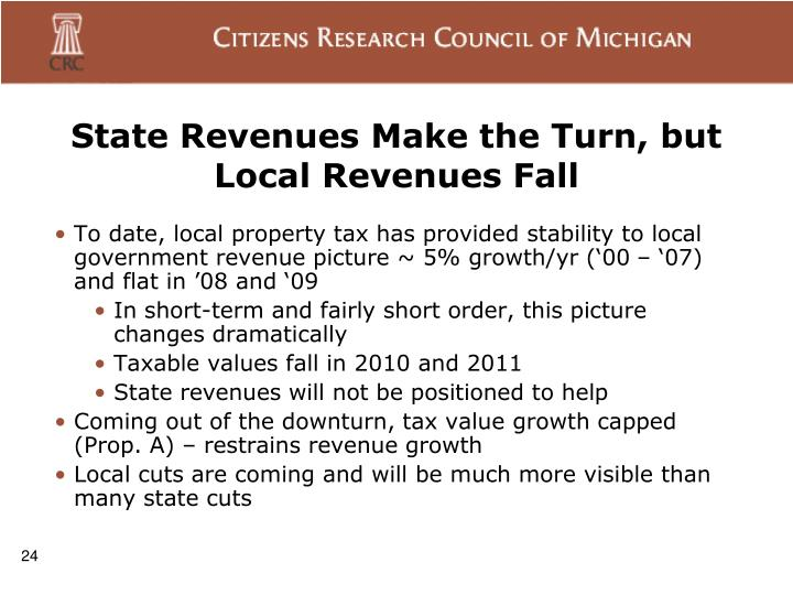 State Revenues Make the Turn, but