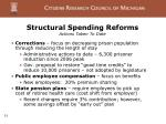 structural spending reforms actions taken to date