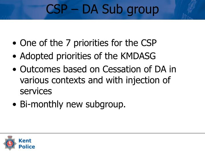 One of the 7 priorities for the CSP