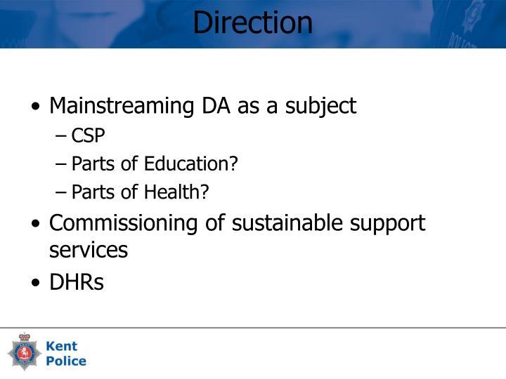 Mainstreaming DA as a subject