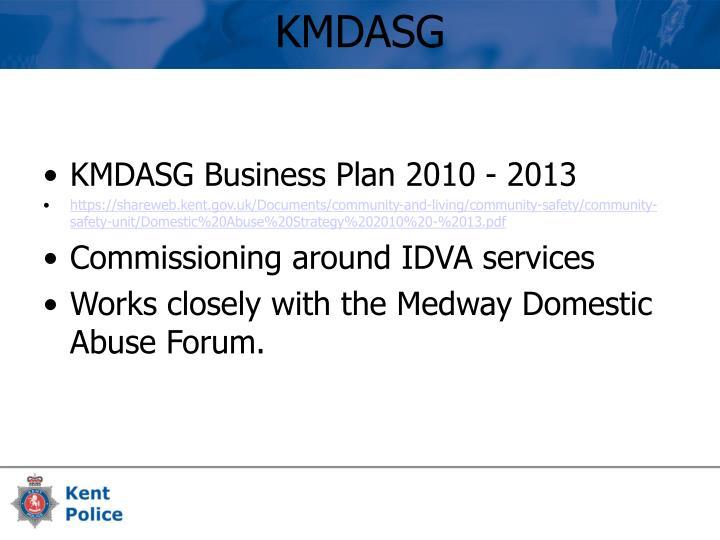 KMDASG Business Plan 2010 - 2013