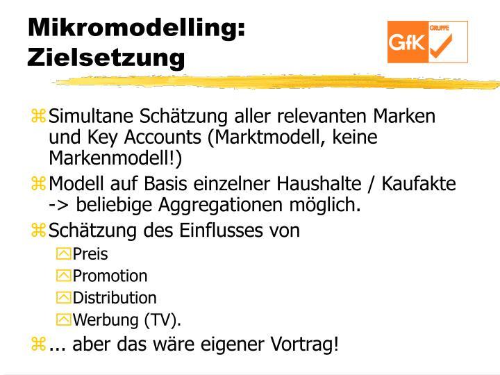 Mikromodelling: