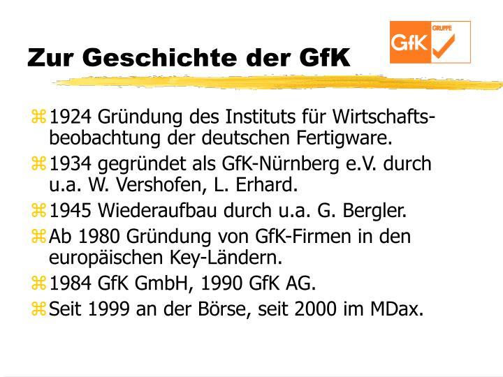 Zur Geschichte der GfK