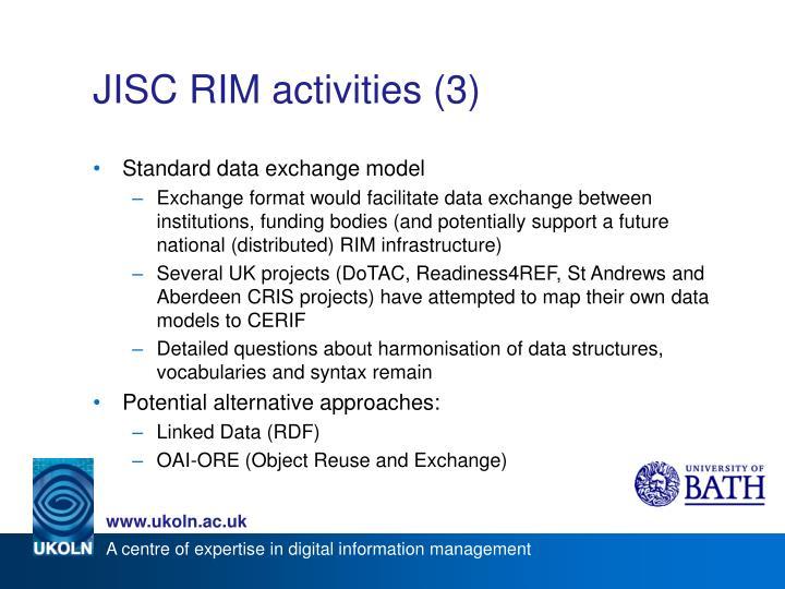 JISC RIM activities (3)