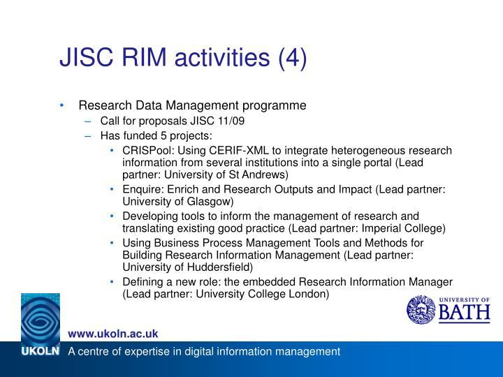 JISC RIM activities (4)