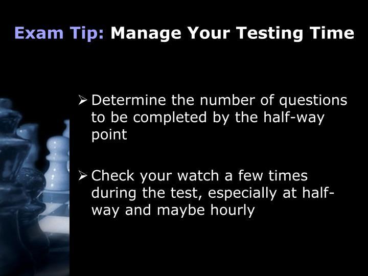 Exam Tip: