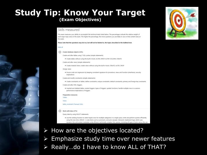 Study Tip: Know Your Target