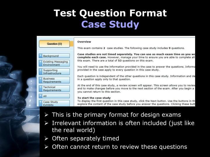 Test Question Format