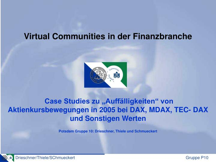 Virtual Communities in der Finanzbranche