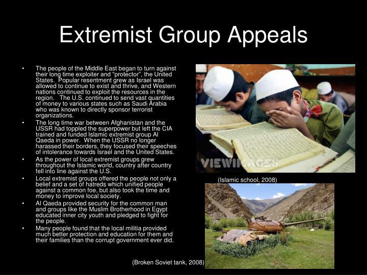 Extremist Group Appeals