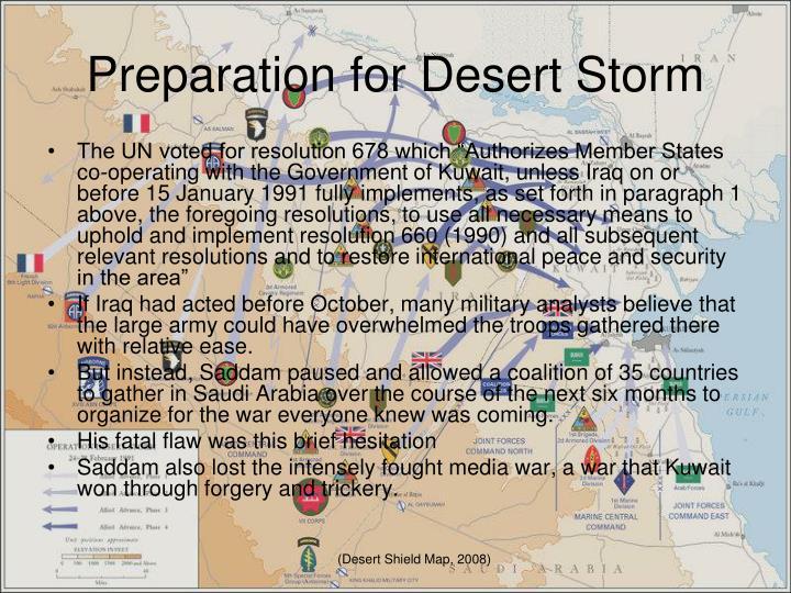 Preparation for Desert Storm