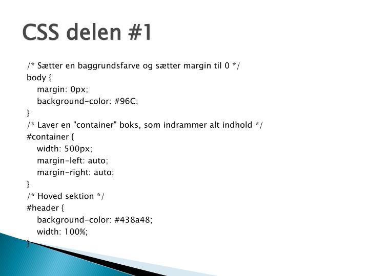 CSS delen #1