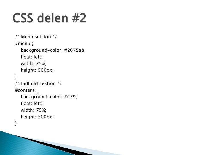 CSS delen #2