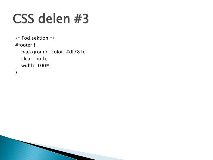 CSS delen #3