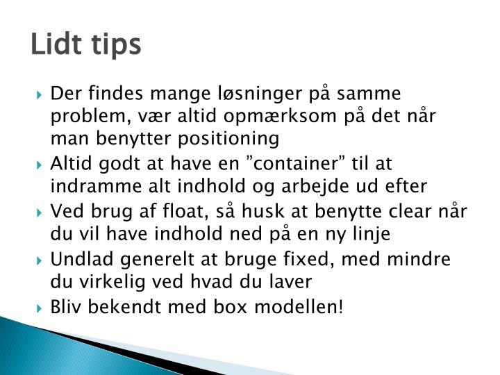 Lidt tips