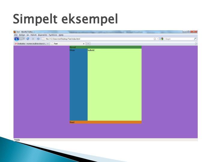 Simpelt eksempel