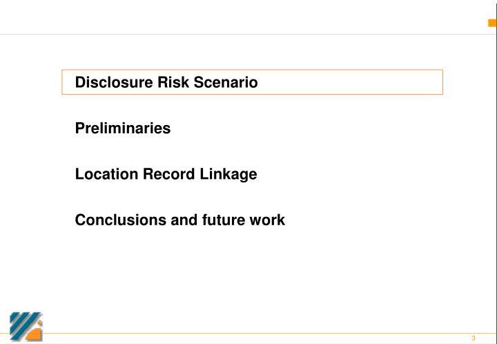 Disclosure Risk Scenario