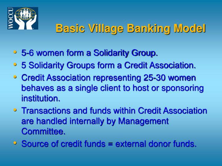 Basic Village Banking Model