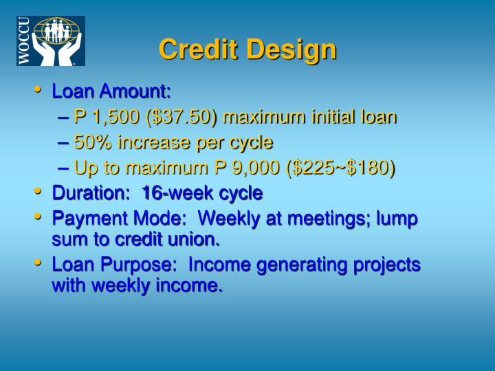 Credit Design