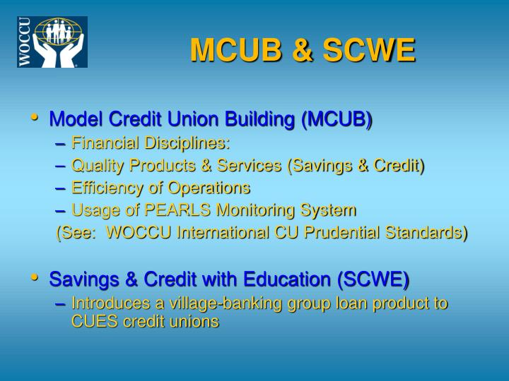 MCUB & SCWE