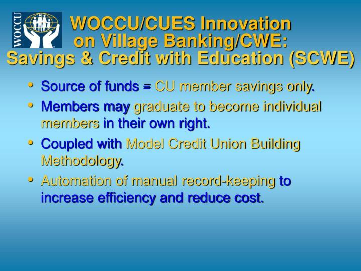 WOCCU/CUES Innovation