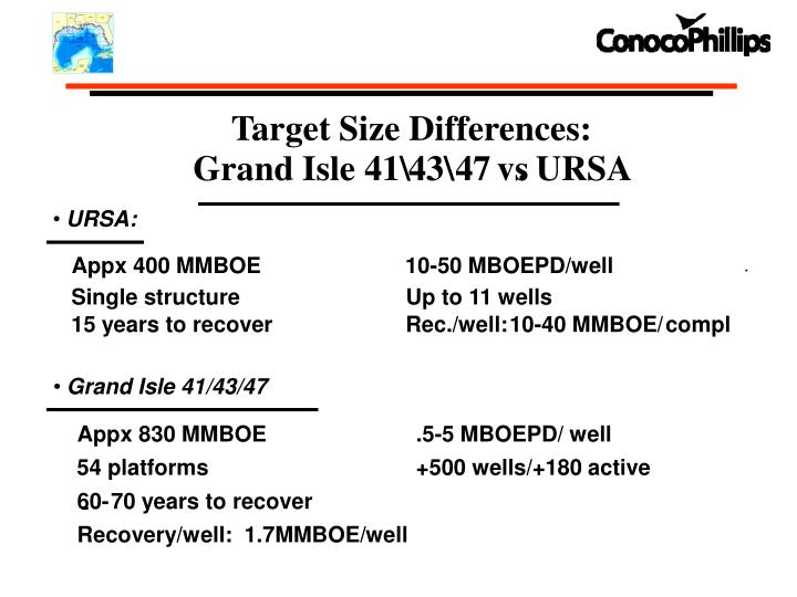 Target Size Differences: