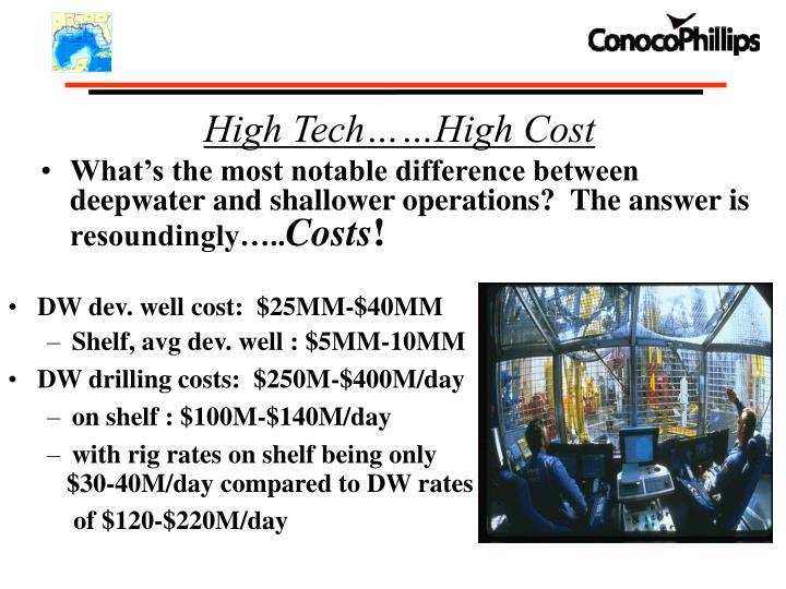 High Tech……High Cost