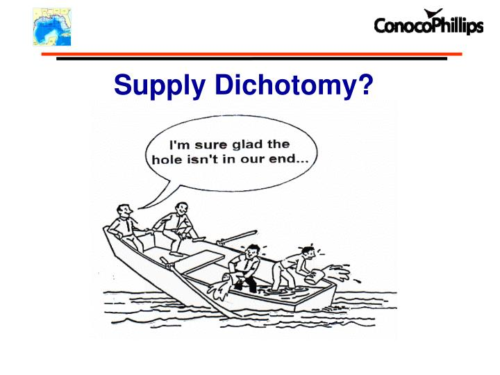 Supply Dichotomy?