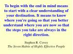 stephen r covey the seven habits of highly effective people