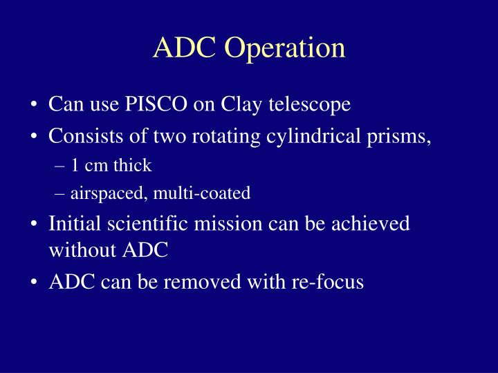 ADC Operation