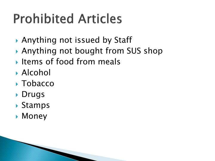 Prohibited Articles