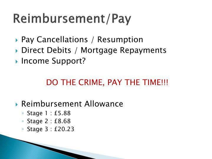 Reimbursement/Pay