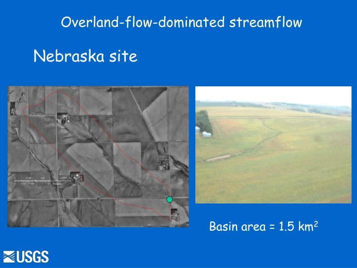 Overland-flow-dominated streamflow