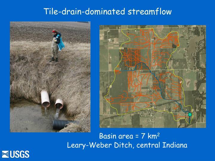 Tile-drain-dominated streamflow