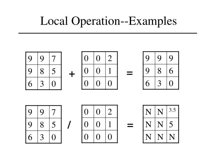 Local Operation--Examples
