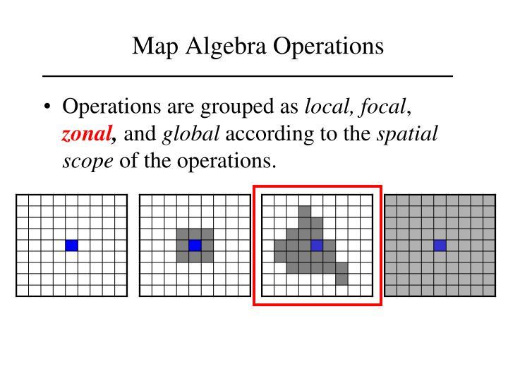 Map Algebra Operations