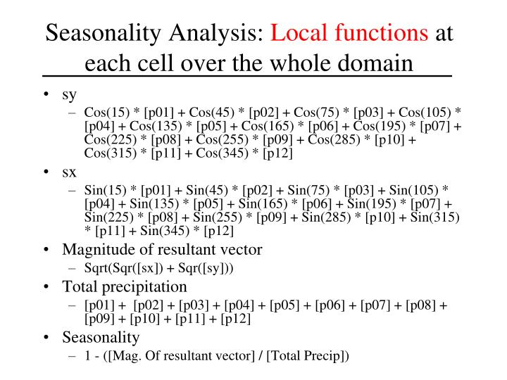 Seasonality Analysis: