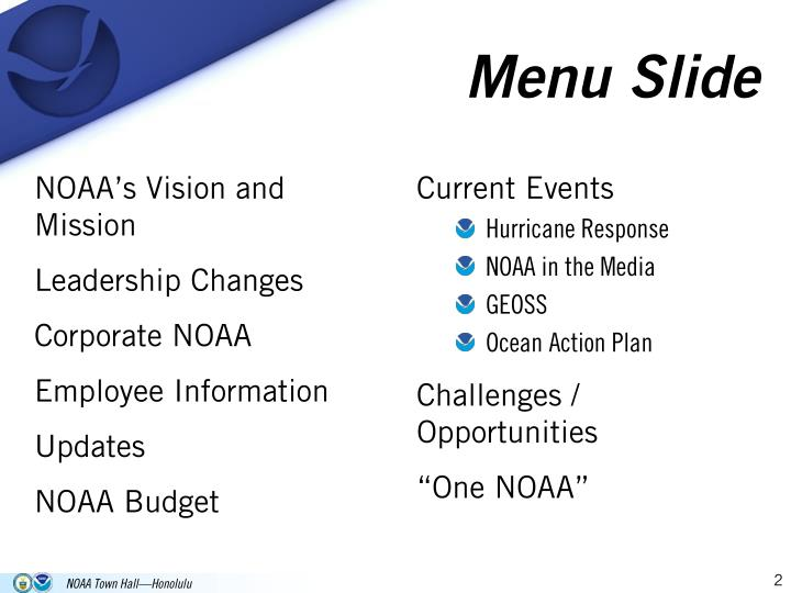 NOAA's Vision and Mission