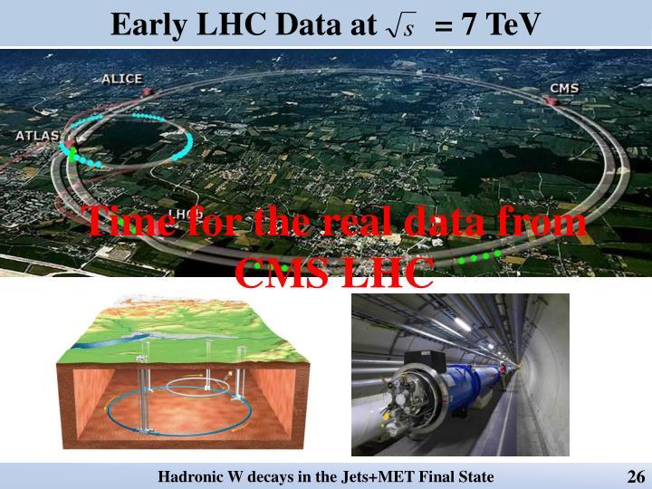 Early LHC Data at       = 7
