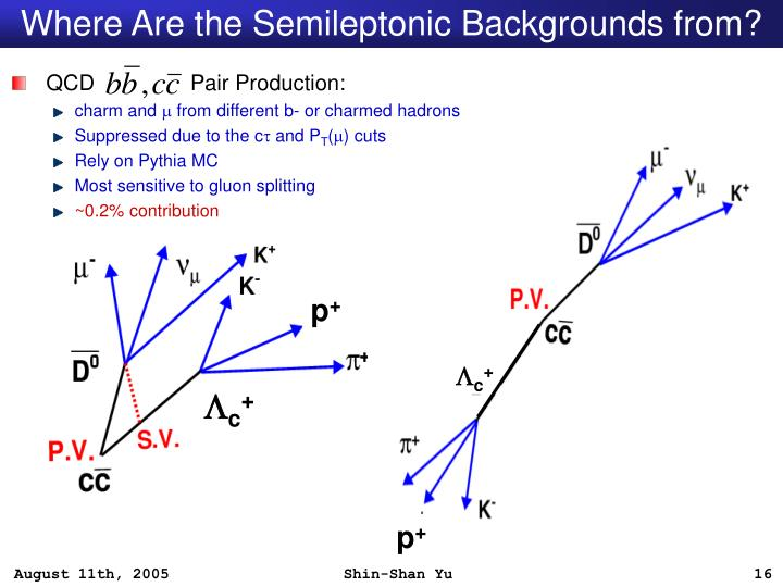 Where Are the Semileptonic Backgrounds from?