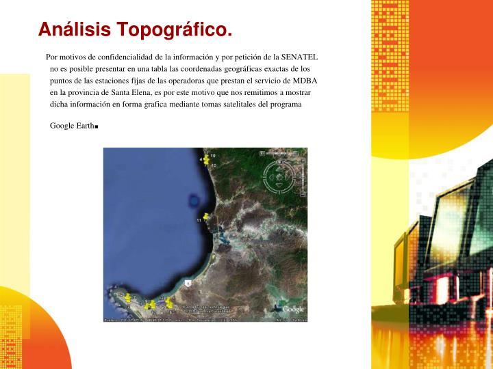 Análisis Topográfico.