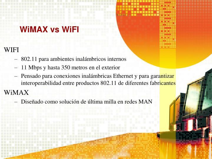 WiMAX vs