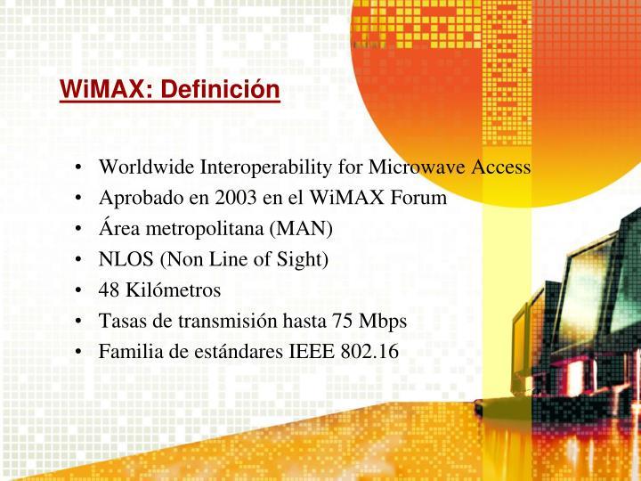WiMAX: Definición