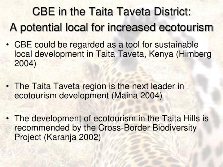 CBE in the Taita Taveta District: